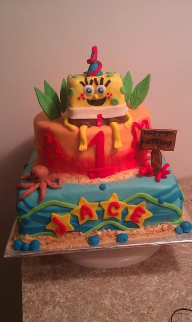 spongebob 1st birthday