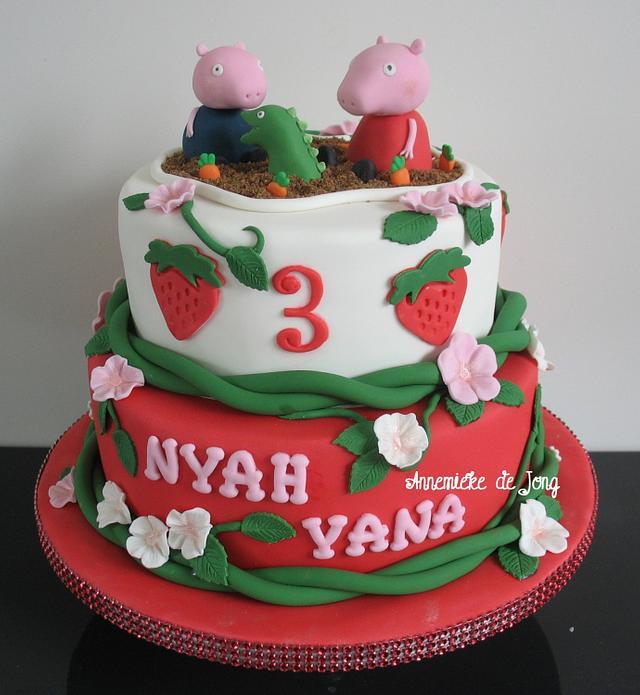 Peppa Pig Strawberry cake