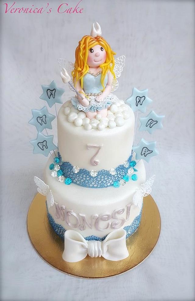 Tooth fairy cake
