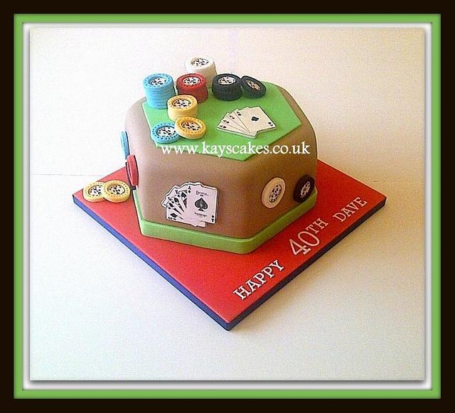 Poker Table/Theme Cake