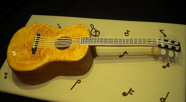 Guitar Groom's Cake