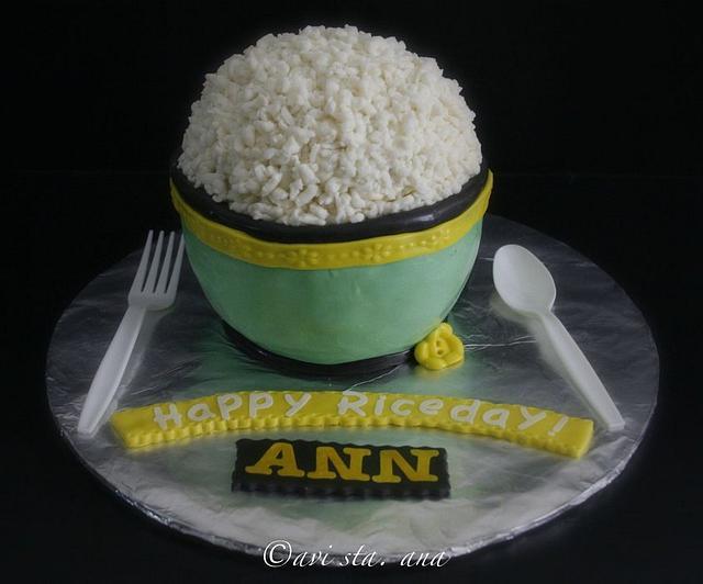Rice bowl cake