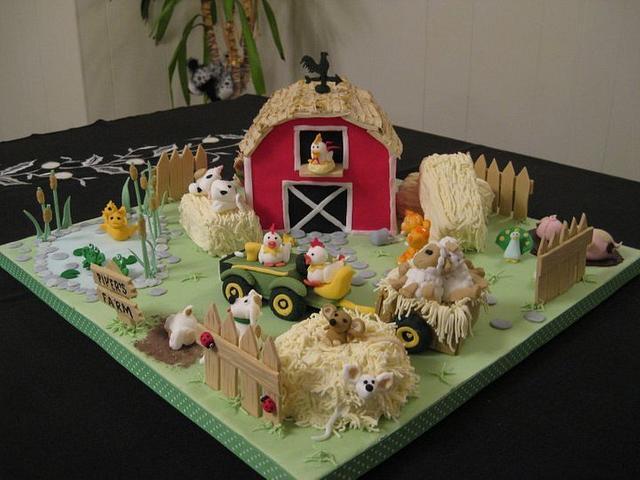 Farm yard birthday cake