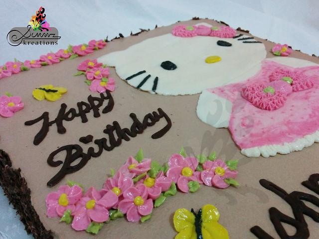 Buttercream Hello Kitty