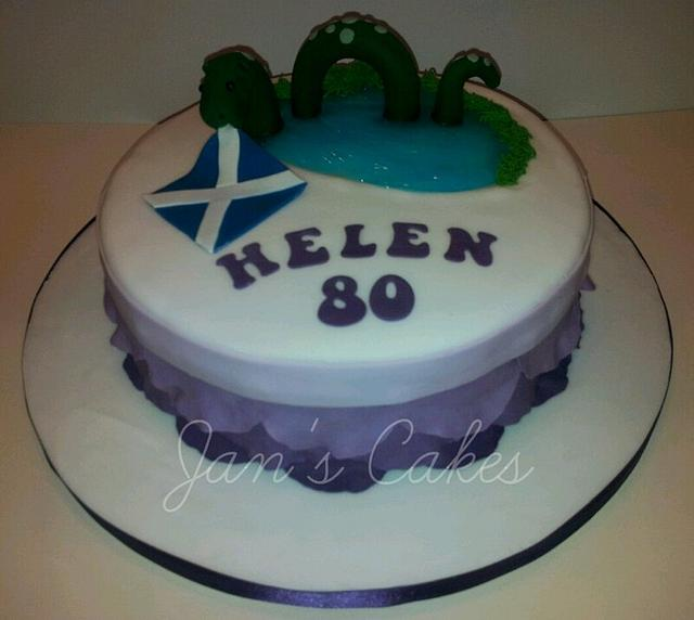 Scottish themed birthday cake & cupcakes