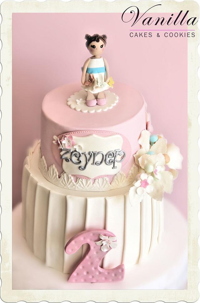 Pink&White Babygirl Cake