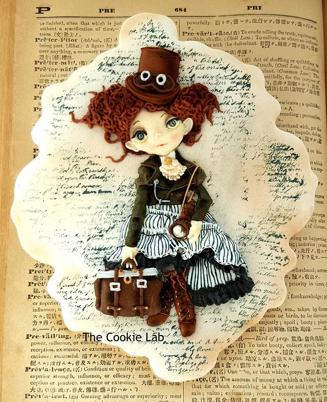 Travelling Girl Cookie......