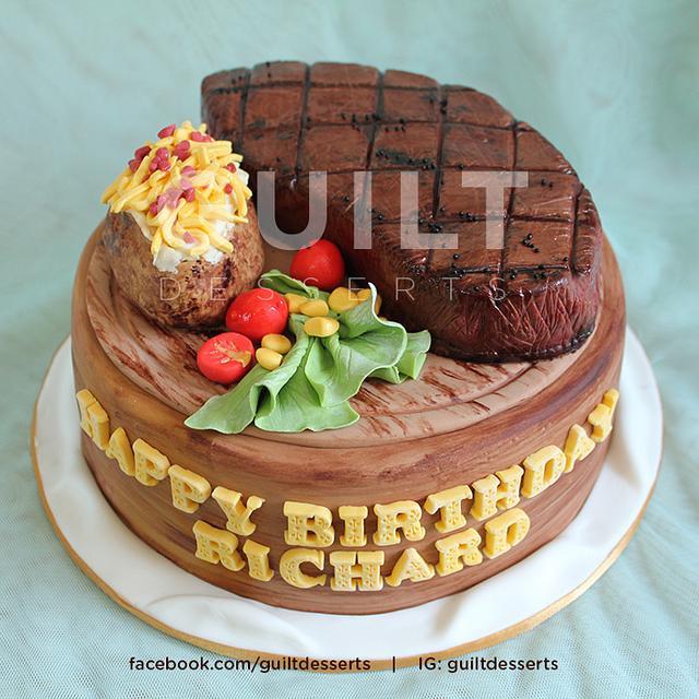Fine Steak Cake Cake By Guilt Desserts Cakesdecor Funny Birthday Cards Online Inifofree Goldxyz