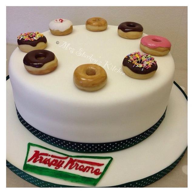 Amazing Krispy Kreme Cake By Sarah Cakesdecor Funny Birthday Cards Online Alyptdamsfinfo