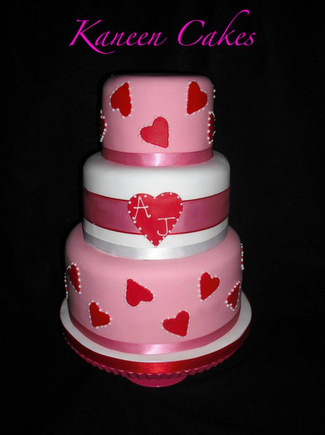 Wedding cake inspired by Peggy Porchan