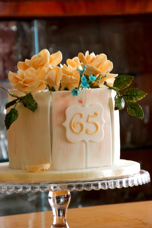 gluten free rose cake