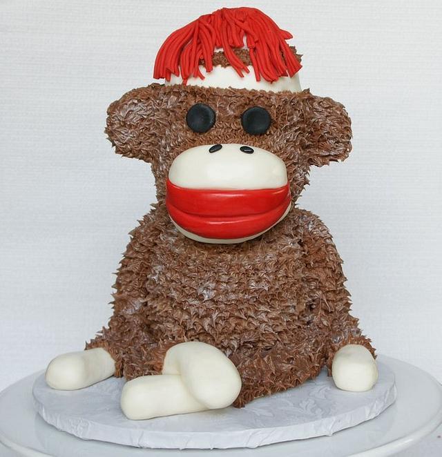 Amazing Milis Sock Monkey Cake By Milissweets Cakesdecor Personalised Birthday Cards Arneslily Jamesorg