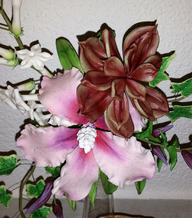 Flower Arrangement with a Candy Geode