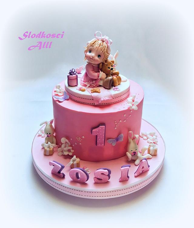 Phenomenal Cute Girls Birthday Cake Cake By Alll Cakesdecor Funny Birthday Cards Online Overcheapnameinfo