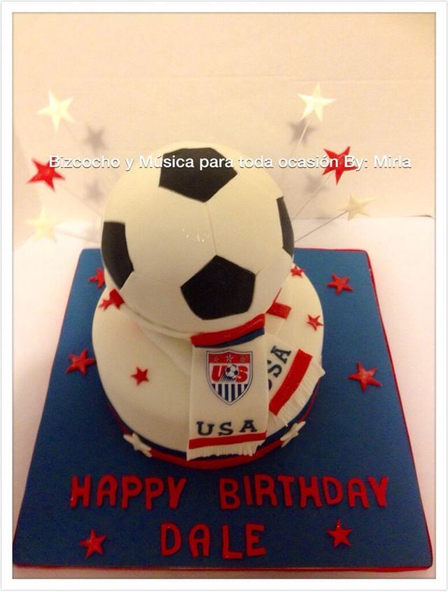 Soccer USA Birthday, Cake