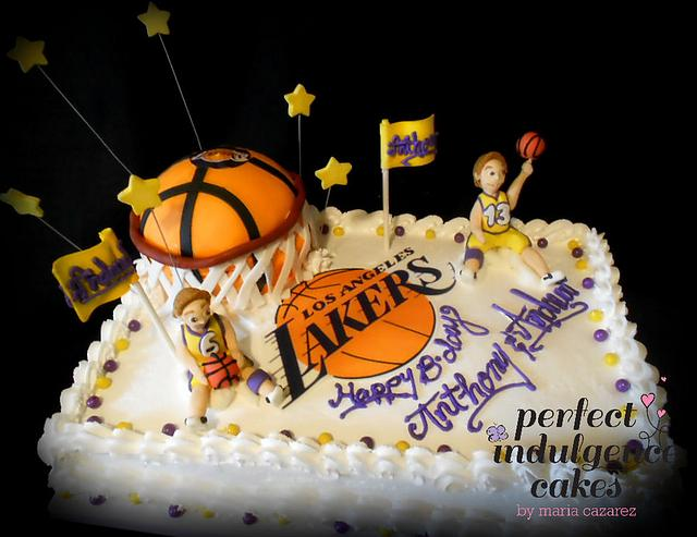 Pleasing Lakers Birthday Cake Cake By Maria Cazarez Cakes And Cakesdecor Funny Birthday Cards Online Sheoxdamsfinfo