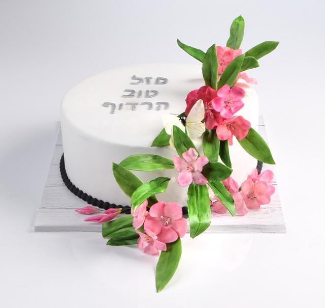 Nerium oleander flowers cake