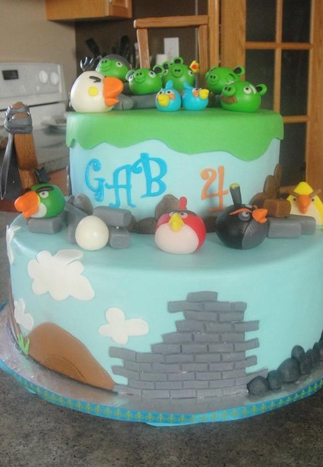 Angry bird cake for Gab