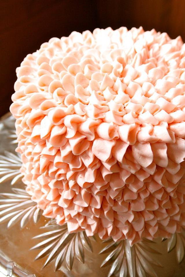 Buttercream Ruffle/ Flower cake