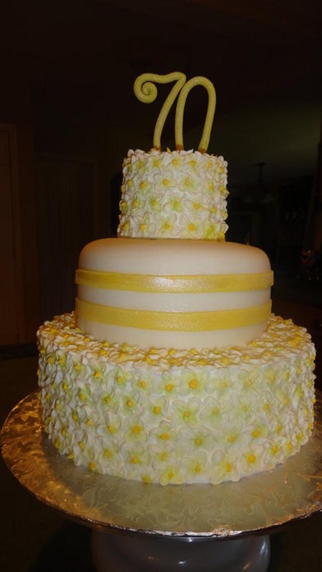 70th anniversary cake