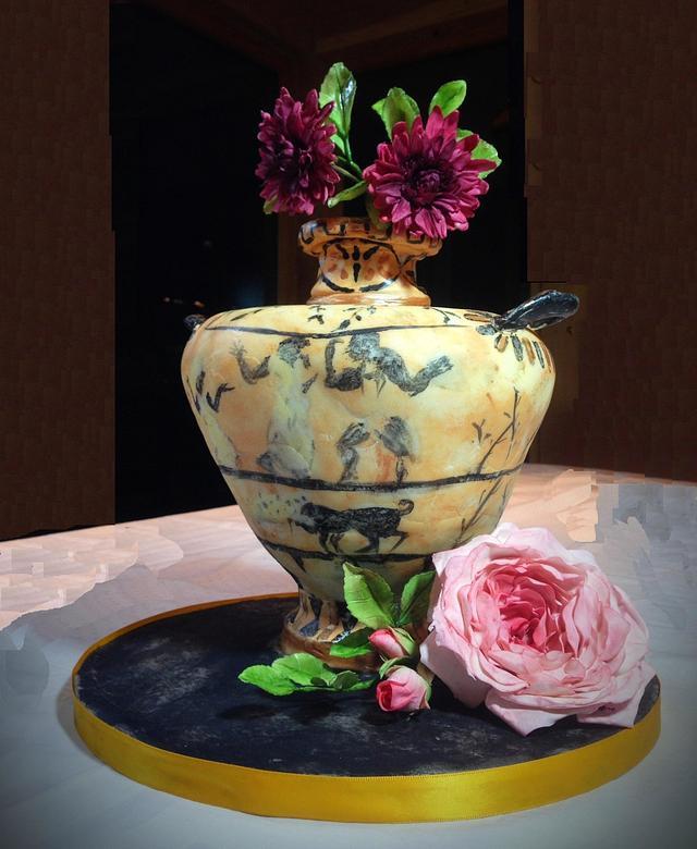 Greek Vase and Flowers