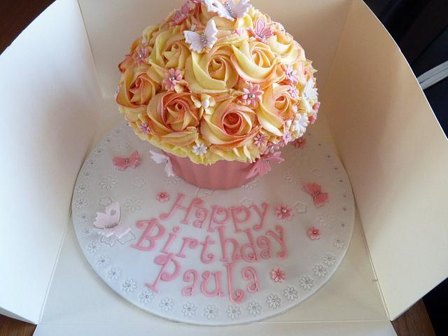 Pink Giant Cupcake