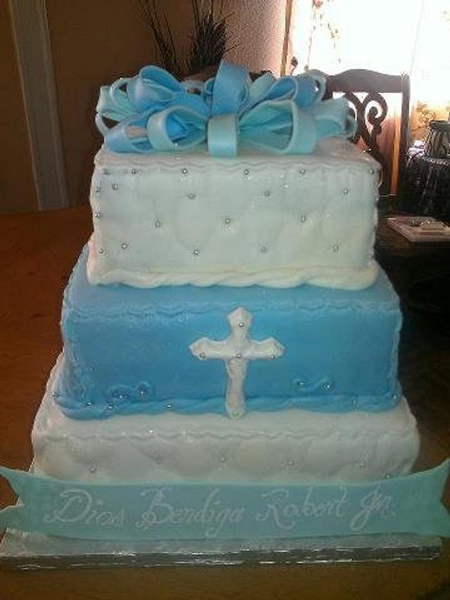 Little Boy Baptism Cake