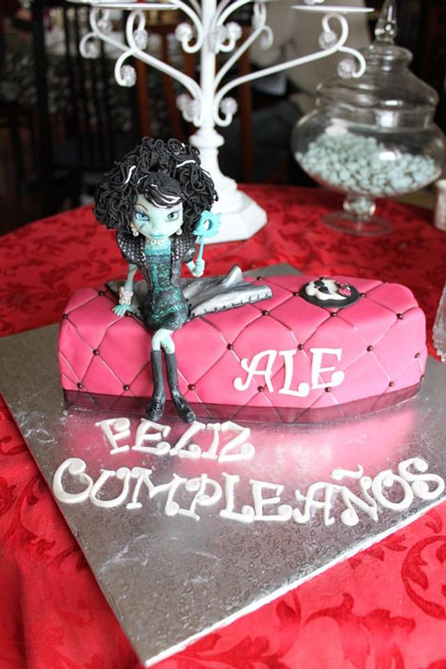Admirable Frankie Monster High Birthday Cake Cake By Artym Cakesdecor Funny Birthday Cards Online Fluifree Goldxyz