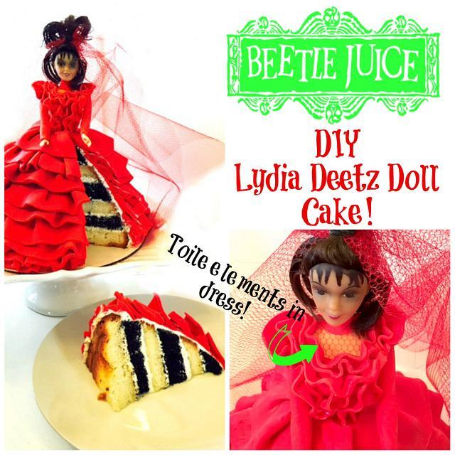 LYDIA DEETZ 'BEETLEJUICE' DOLL CAKE!