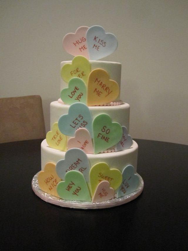 Conversation Heart Cake Dummy