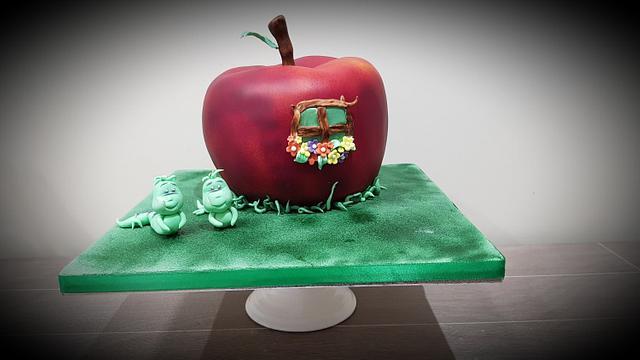 Apple Themed Twins cake