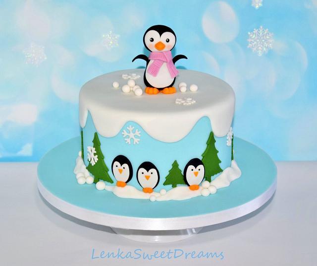 Winter penguins cake.