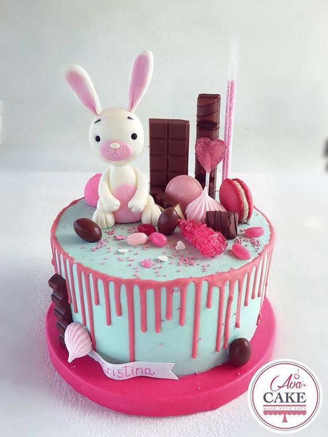 Rabbit Drip Cake