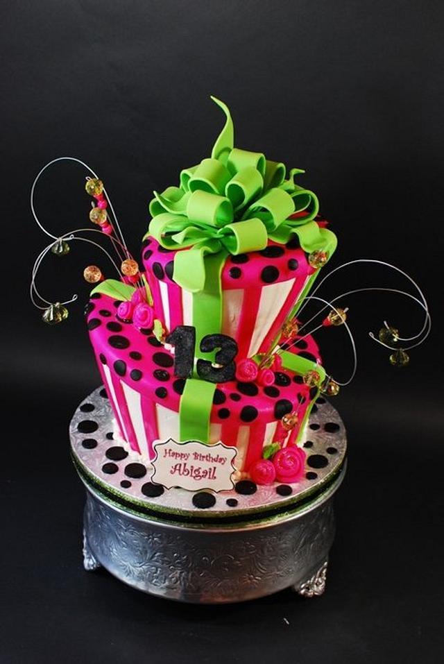 Whimsical Topsy Turvy Birthday Cake