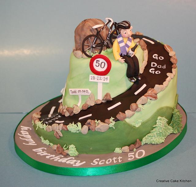 Awesome Bike Cake 50Th Birthday Cake By Screativecakekitchen Cakesdecor Personalised Birthday Cards Xaembasilily Jamesorg