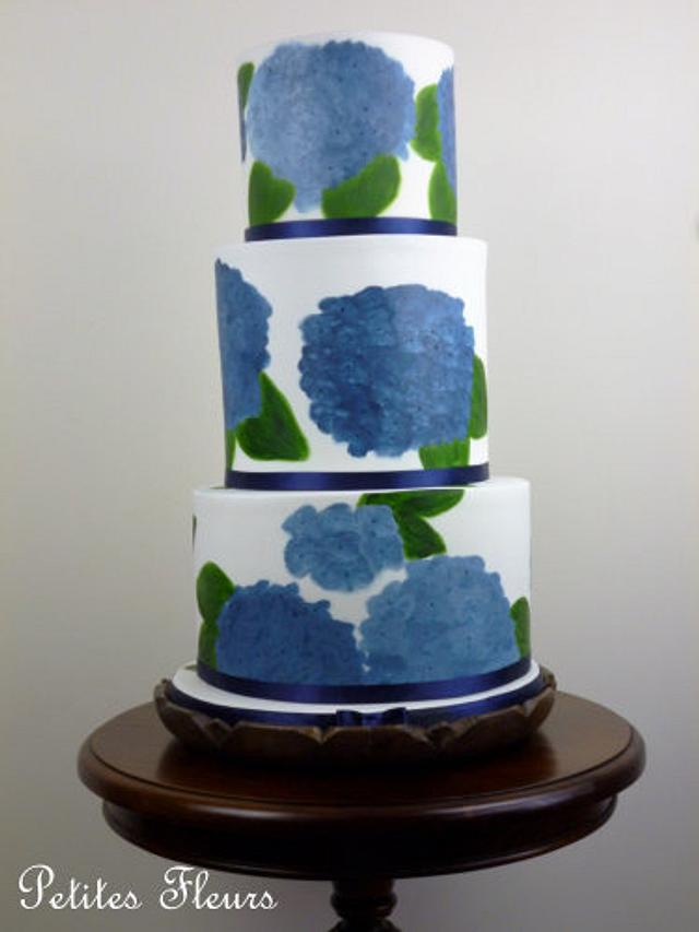 Hydrangeas in blue!