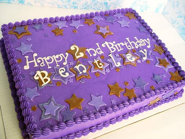 Purple and Brown Stars Birthday