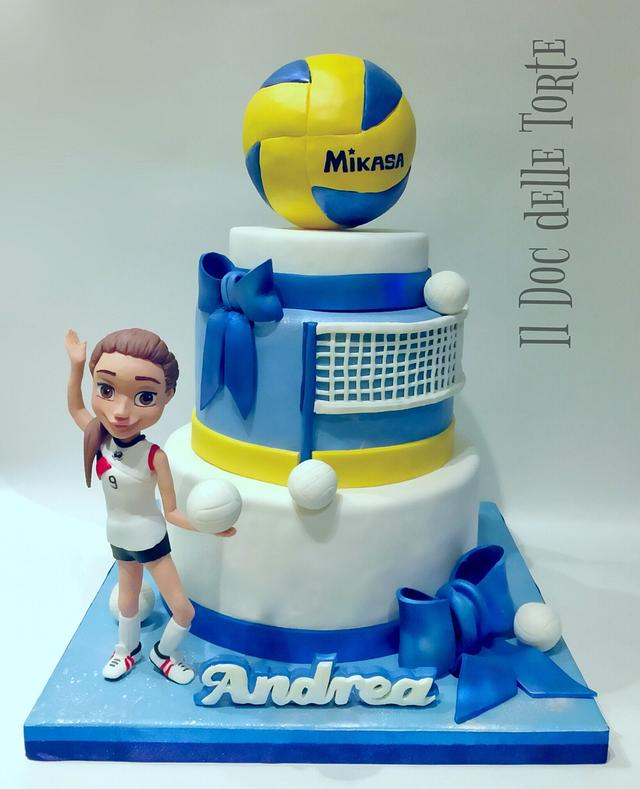 Miraculous Volleyball Cake Cake By Davide Minetti Cakesdecor Personalised Birthday Cards Beptaeletsinfo