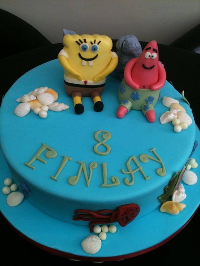 Wondrous Sponge Bob Patrick Birthday Cake Cake By Swirly Sweet Cakesdecor Personalised Birthday Cards Cominlily Jamesorg
