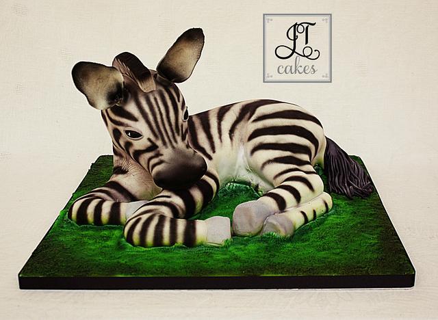 Carved Cake Baby Zebra