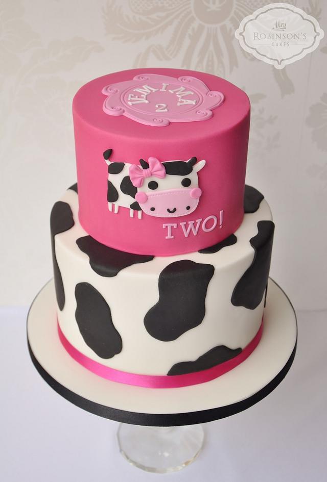 Fabulous Moo Cow Birthday Cake Cake By Mrs Robinsons Cakes Cakesdecor Birthday Cards Printable Riciscafe Filternl