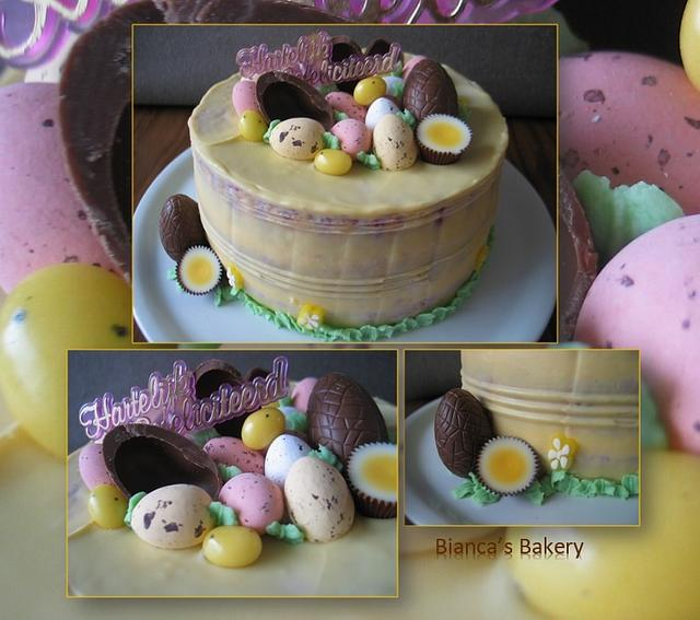 Magnificent Easter Birthday Cake Cake By Biancas Bakery Cakesdecor Funny Birthday Cards Online Fluifree Goldxyz