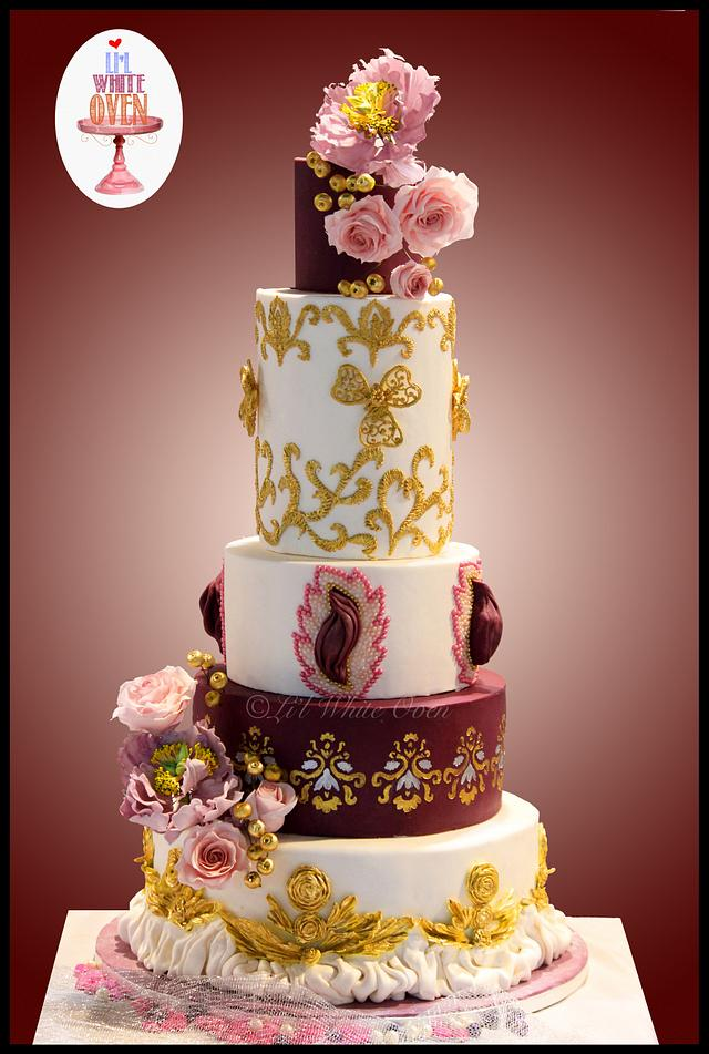 Aristo - First place winner at Wedding Cake Competition, Cakeology India