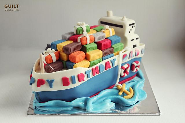 Miraculous Cargo Ship Birthday Cake Cake By Guilt Desserts Cakesdecor Funny Birthday Cards Online Inifofree Goldxyz