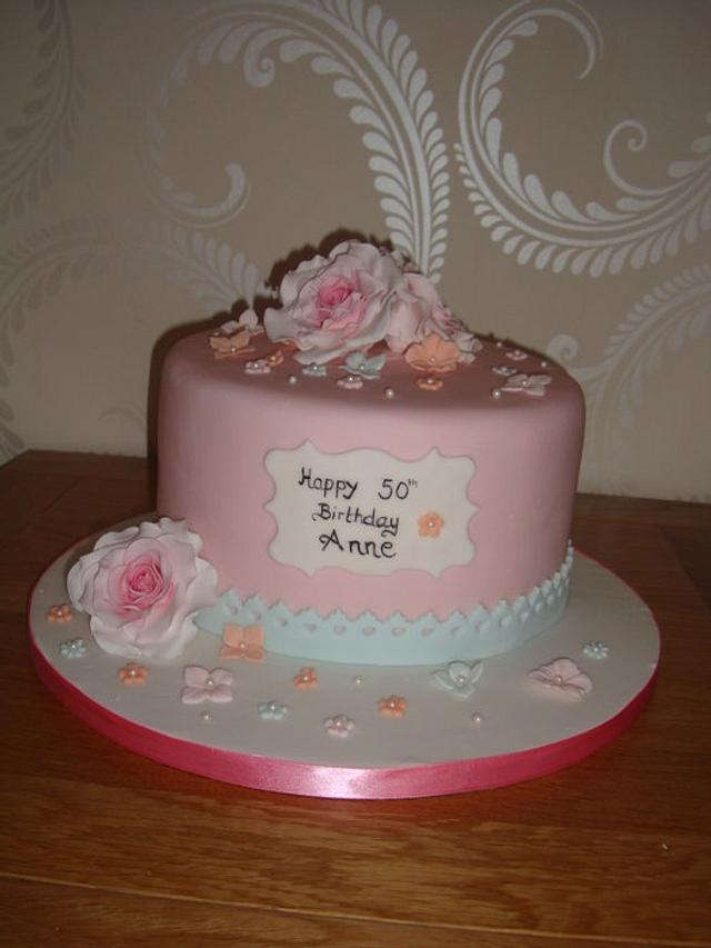 Happy birthday cake vintage style :-)