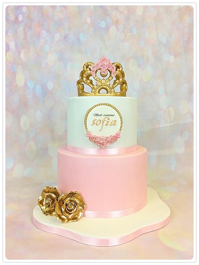 Princess cake gold
