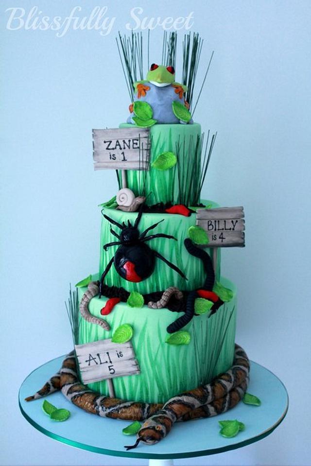 Superb Reptile Themed Birthday Cake Cake By Jacki Fanto Cakesdecor Personalised Birthday Cards Xaembasilily Jamesorg