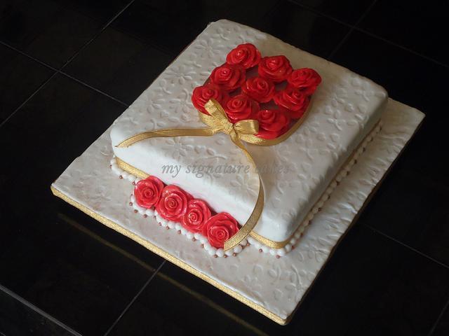 Red Rose cake.