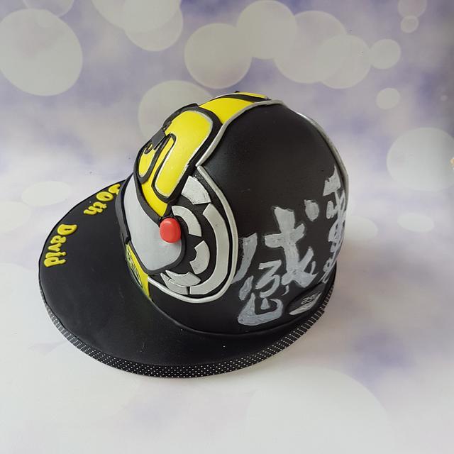 Motorcycle Helmet Cake