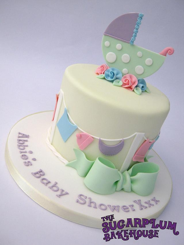 Super Unisex Neutral Baby Shower Cake Cake By Sam Harrison Cakesdecor Personalised Birthday Cards Sponlily Jamesorg